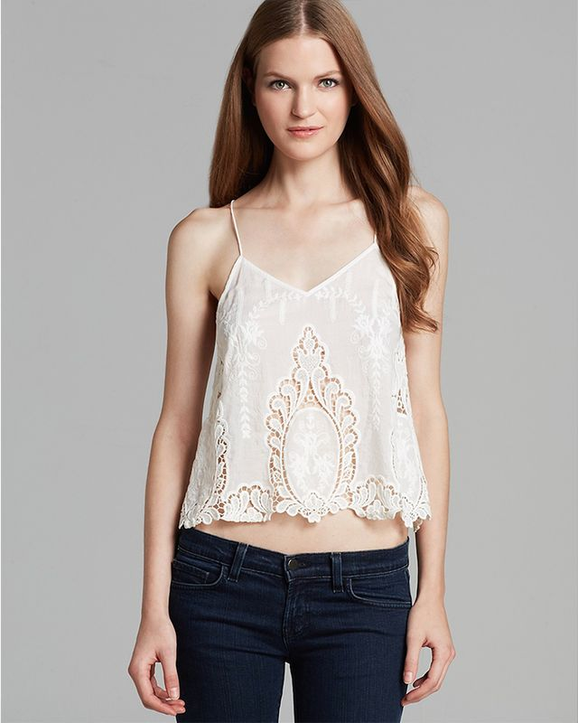 Dolce Vita Sabelle Embroidered Crop Top