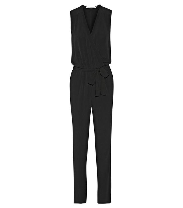 Diane Von Furstenberg Rawena Crepe de Chine Jumpsuit