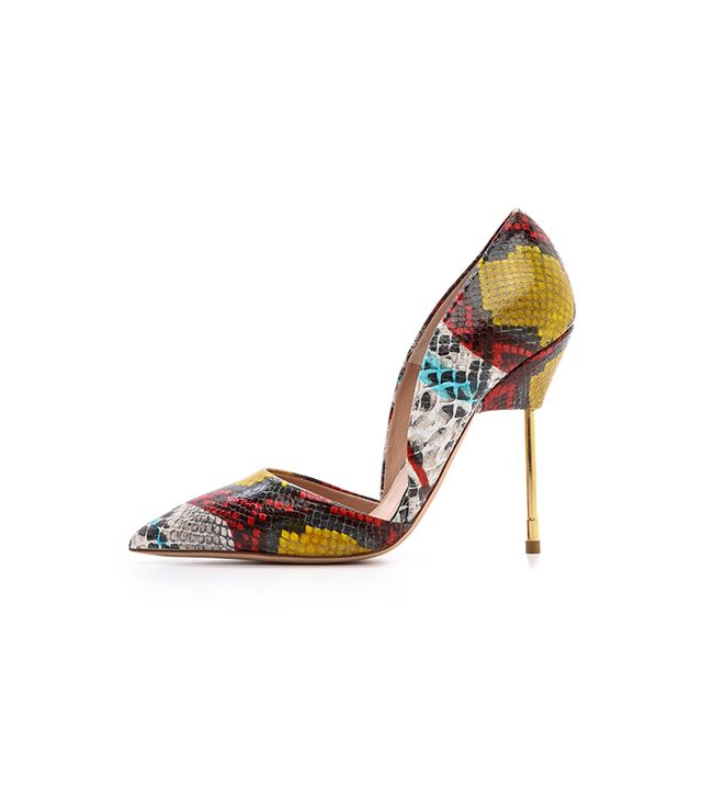 Kurt Geiger London Bond Snake Print Pumps