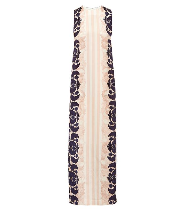 Mother of Pearl Aspen Printed Silk Crepe de Chine Maxi Dress