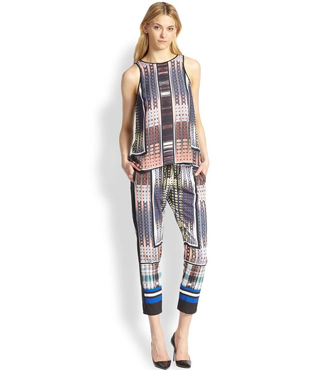 Clover Canyon Donegal Cropped Printed Track Pants