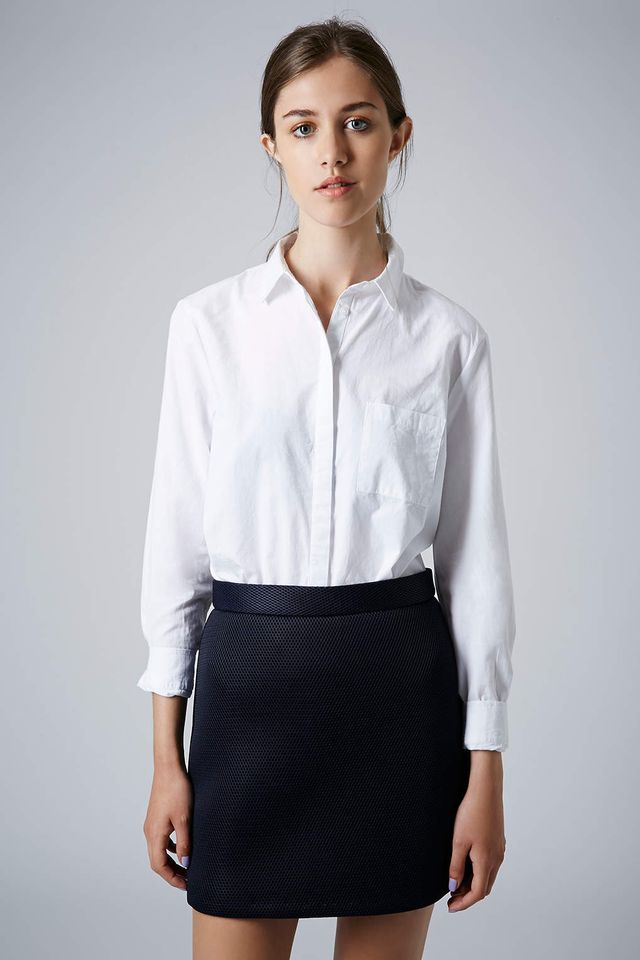 Topshop Long Sleeve Cotton Shirt