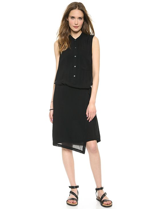 DKNY Pure Wrap Shirtdress