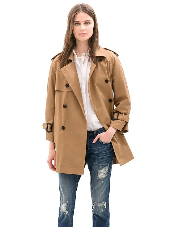 Zara Short Trench Coat