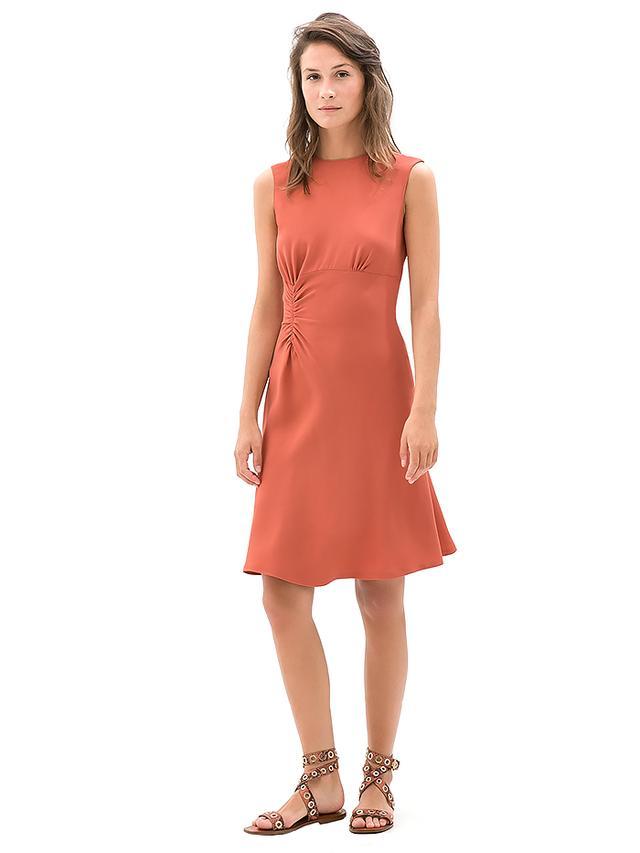Zara Dress With Side Gathering
