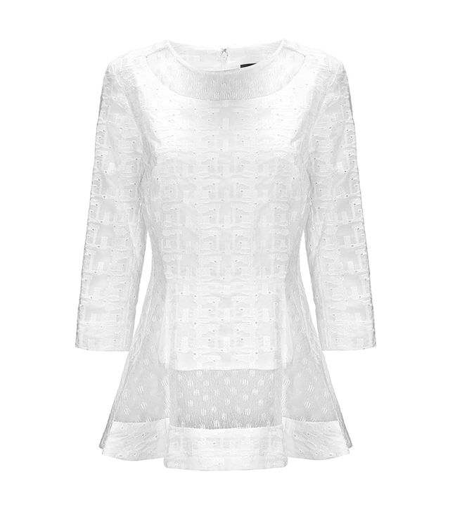 Thankoon White Lace Insert Top
