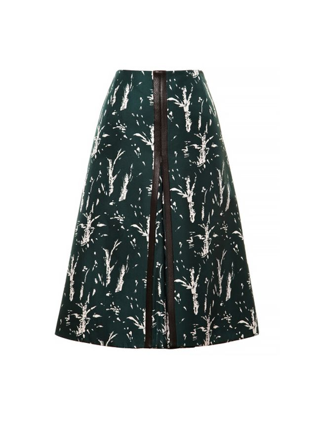 Marni Silk-Blend Printed Skirt