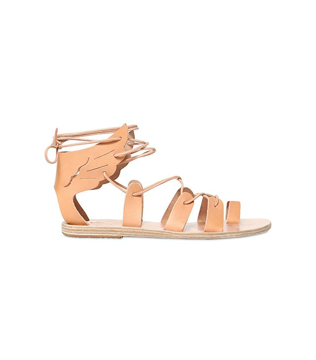 Ancient Greek Sandals Fteroti Leather Gladiator Sandals