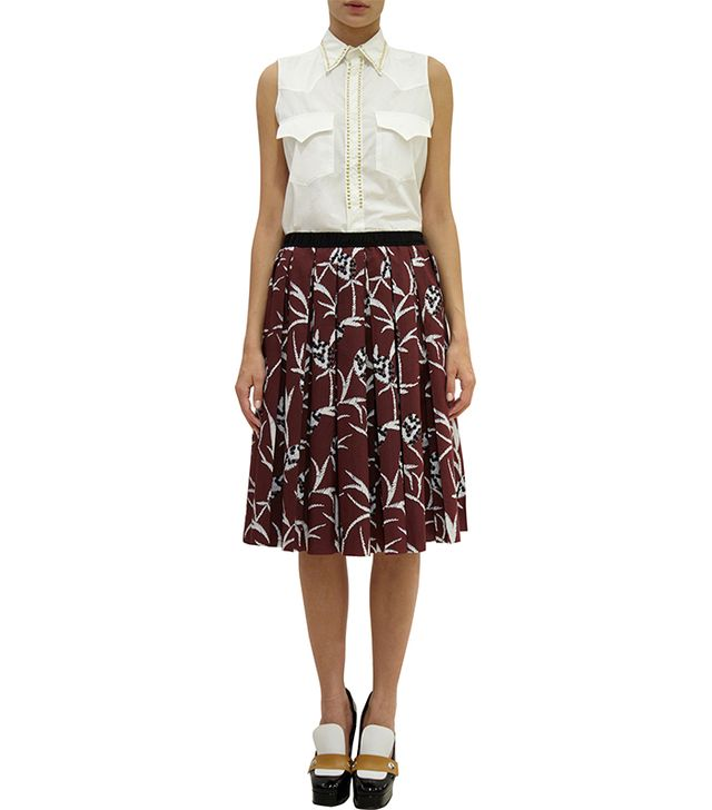 Marni Pineapple Pleated Skirt