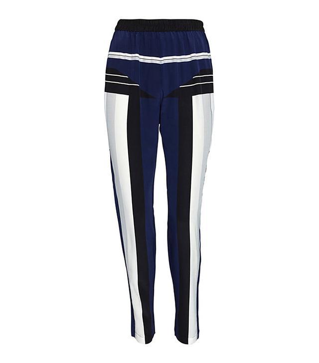 Jonathan Simkhai Silk Print Track Pants