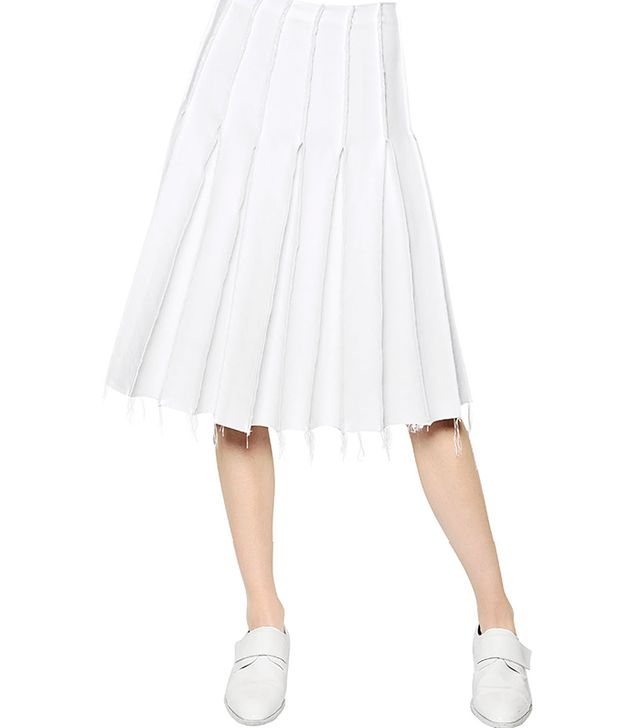 J.W. Anderson Pleated Techno Silk Skirt