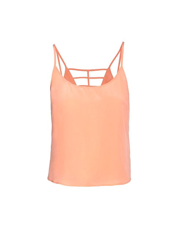 Parker Cut Out back Spaghetti Strap Silk Cami