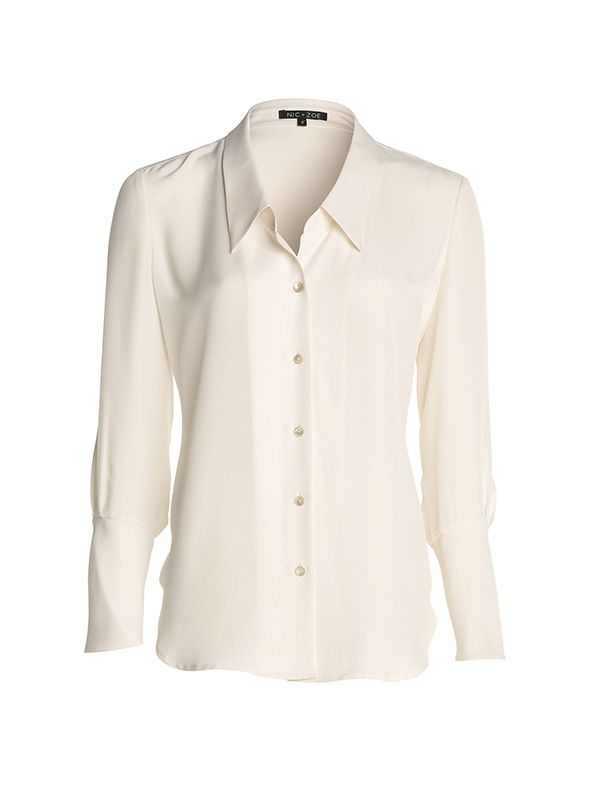 NIC+ZOE Modern Blouse in Paper White
