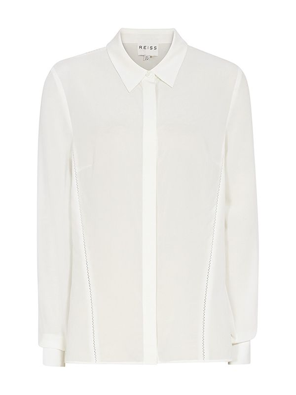 Sphynx Long Sleeve Detail Shirt in Cream