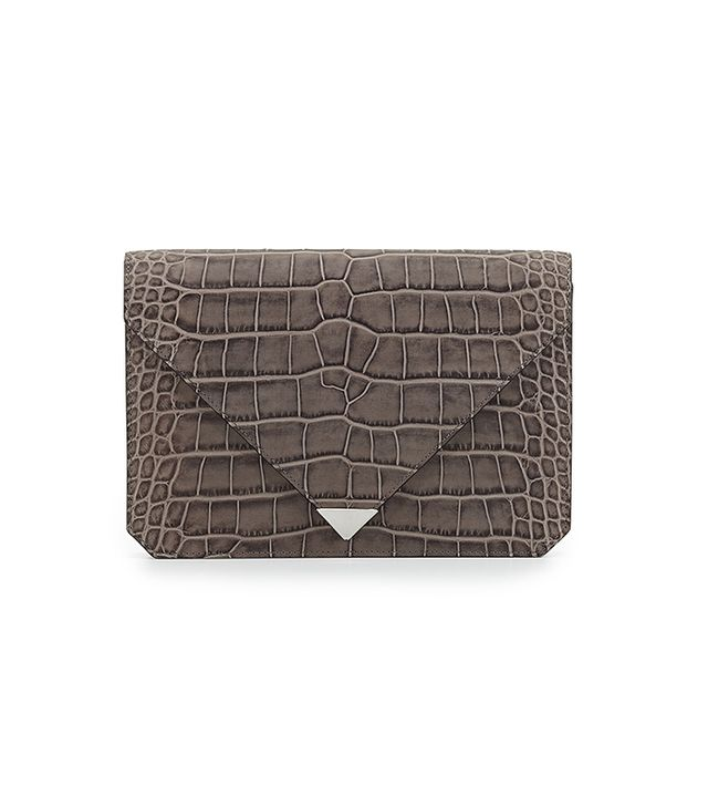 Alexander Wang Croc-Embossed Envelope Clutch