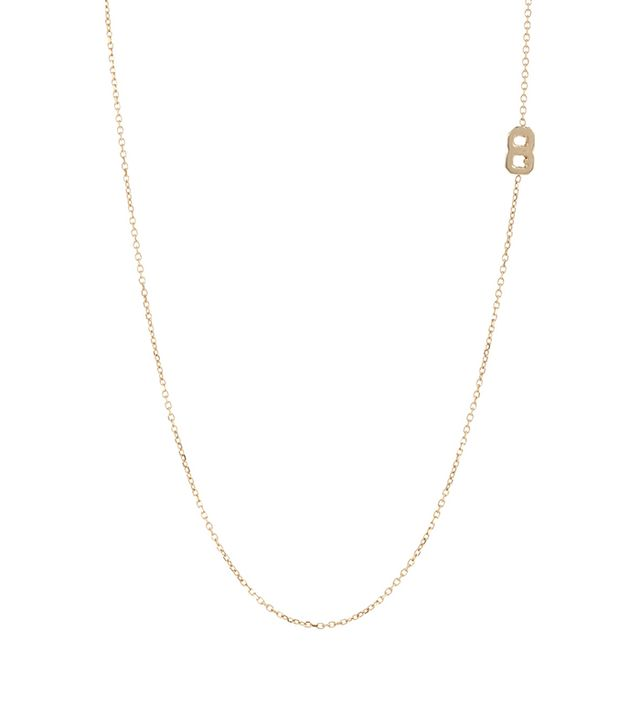 "Bianca Pratt Gold Number ""8"" Charm Necklace"