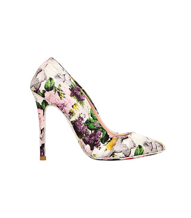 MSGM Floral Satin Pumps