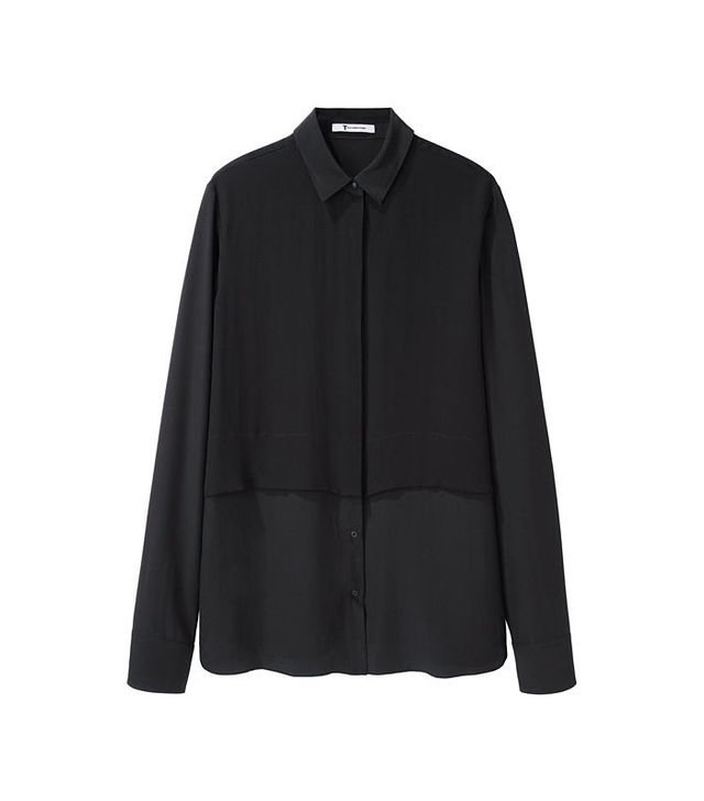 T by Alexander Wang Layered Silk Shirt