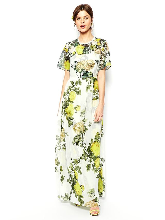 ASOS Salon T-Shirt Maxi Dress