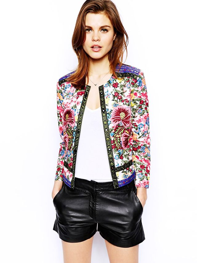 ASOS Statement Floral Embroidered Jacket