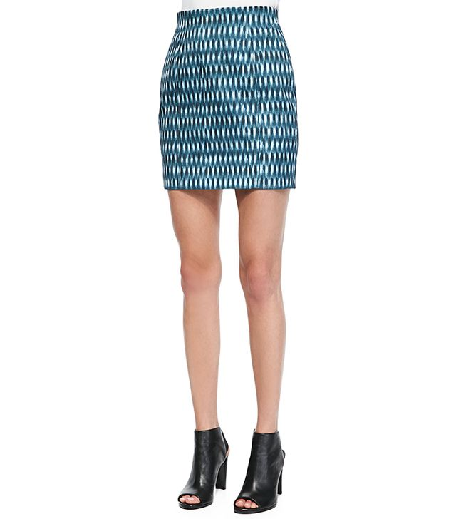O2nd Printed Slim Skirt