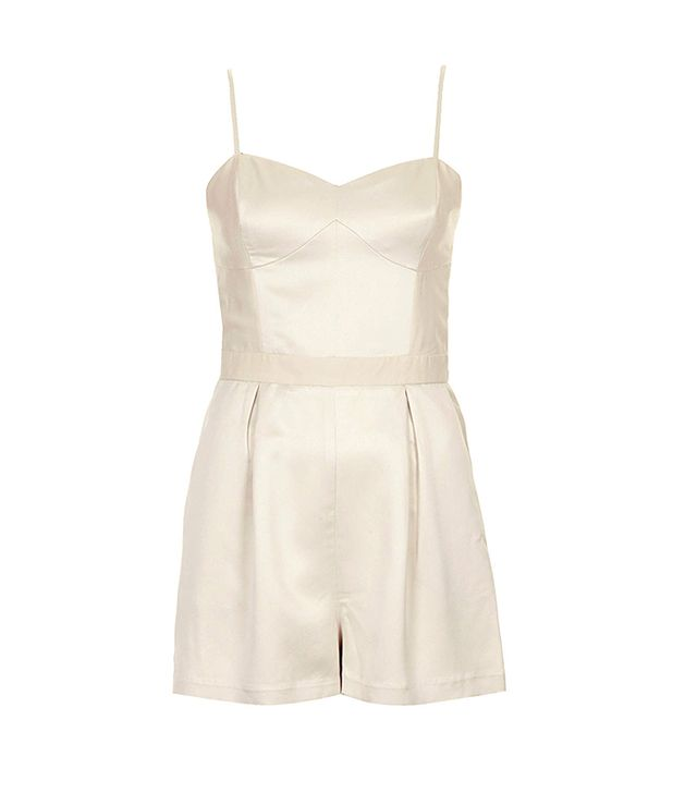 Topshop Satin Panel Playsuit
