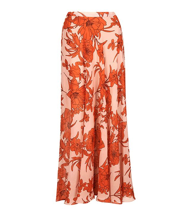 Topshop Poppy Bloom Maxi Skirt