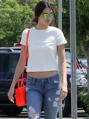 Kendall Jenner's Cool Pop Of Color
