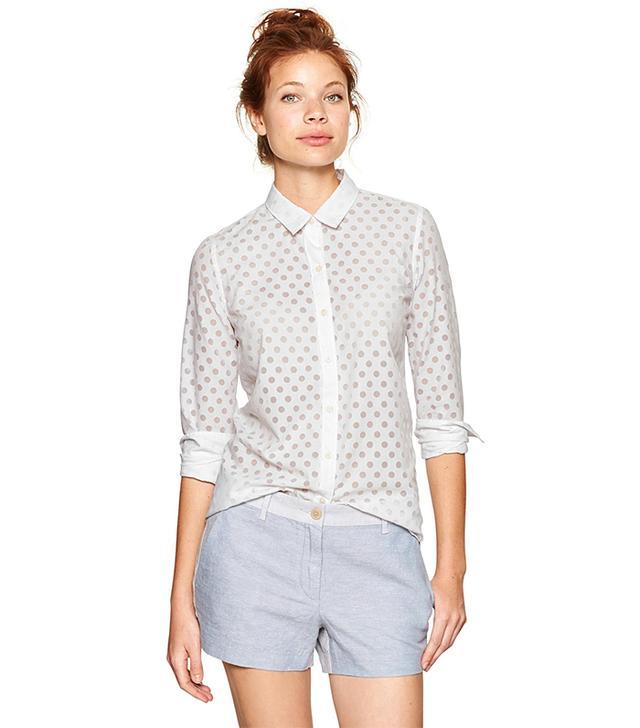 Gap Fitted Boyfriend Burnout Dot Shirt