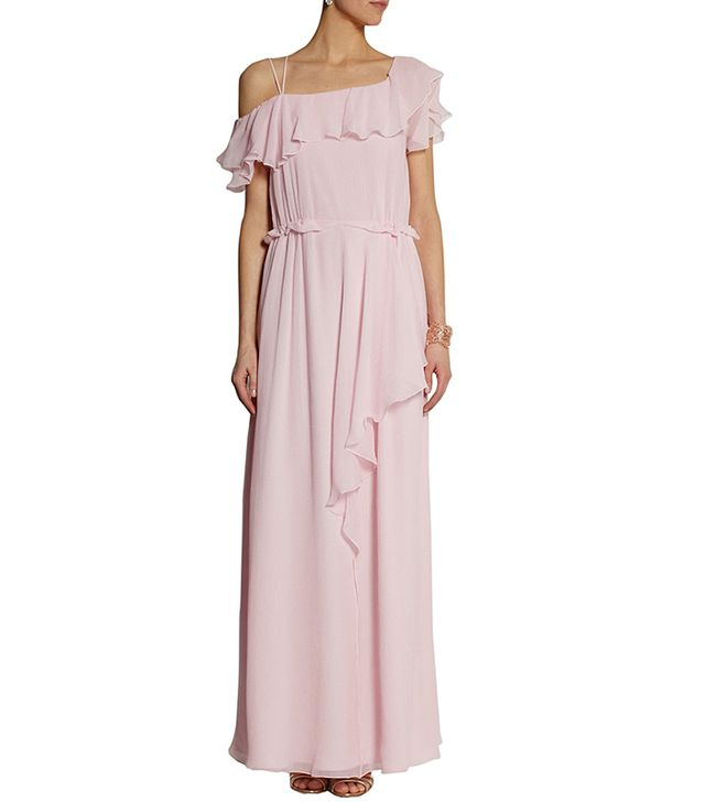 Philosophy Ruffled Silk-Chiffon Gown