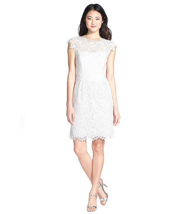 Shoshanna Scarlett Lace Sheath Dress