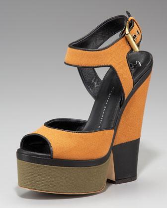 Giuseppe Zanotti Colorblock Canvas Sandals