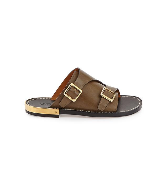 Chloé Double-Monk Slide Sandals