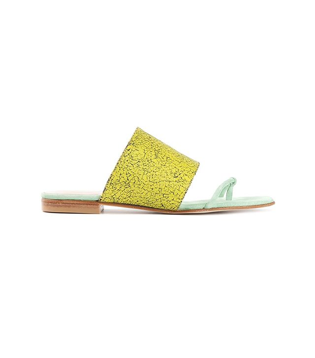 Opening Ceremony Textured Flat Sandals