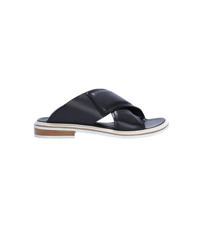 Tibi Cross-Strap Flat Sandals
