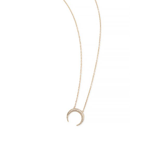 Jacquie Aiche Mini Crescent Horn Necklace