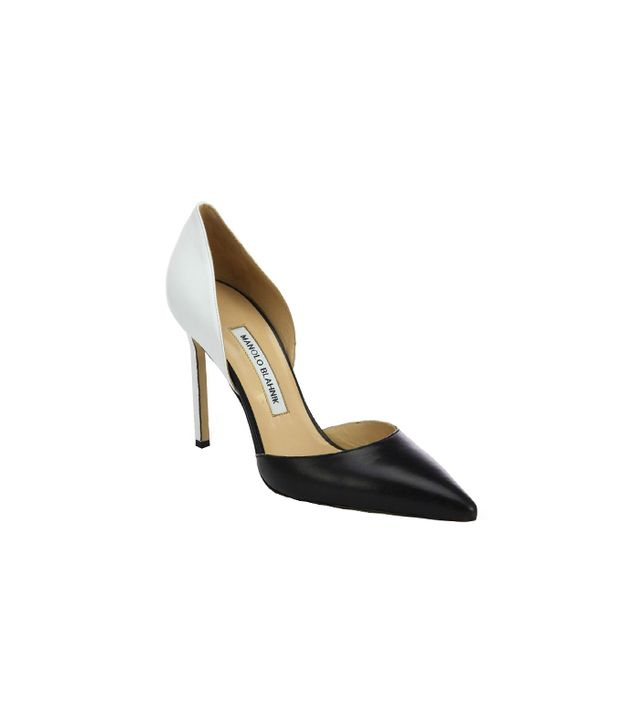 Manolo Blahnik Tayler Bicolor Leather d'Orsay Pumps