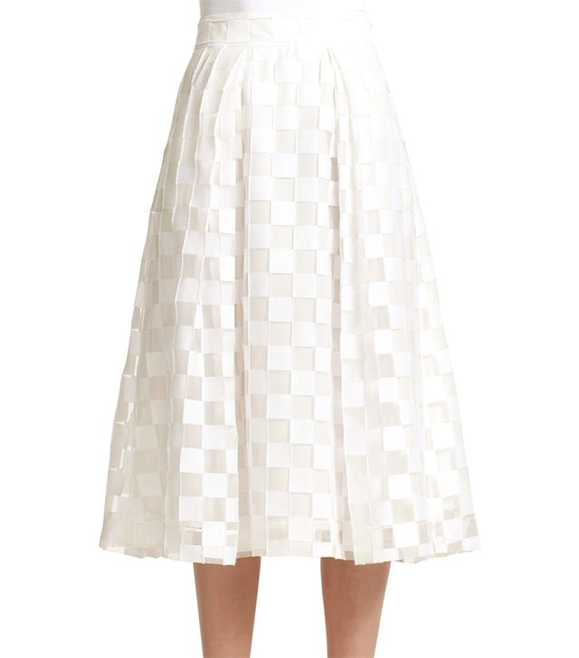 Milly Square Fil Coupe Midi Skirt