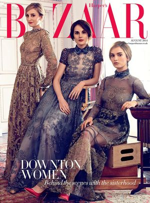 "The Women of ""Downton Abbey"" Stun in Harper's Bazaar UK"
