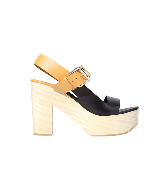 Zara Two-Tone Leather Wedges
