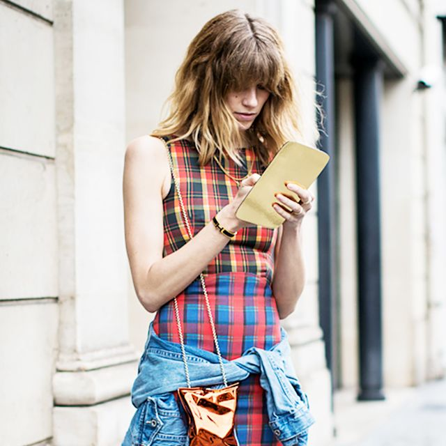 Tip Of The Day: Wear Your Plaid Dress Like A Fashion Editor