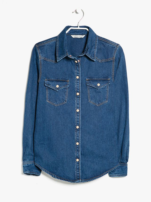 Mango Ink Denim Overshirt