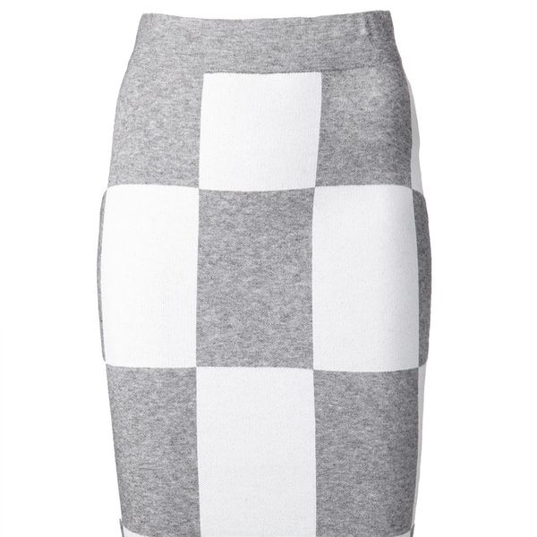 10 Crosby Derek Lam Check Pencil Skirt