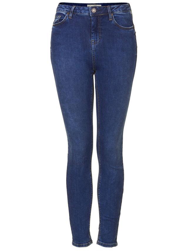 Topshop Moto Blue Vintage Wash Jamie Jeans