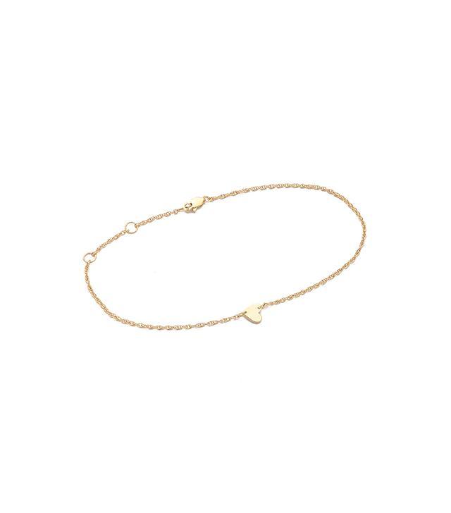 Jennifer Zeuner Jewelry Heart Anklet