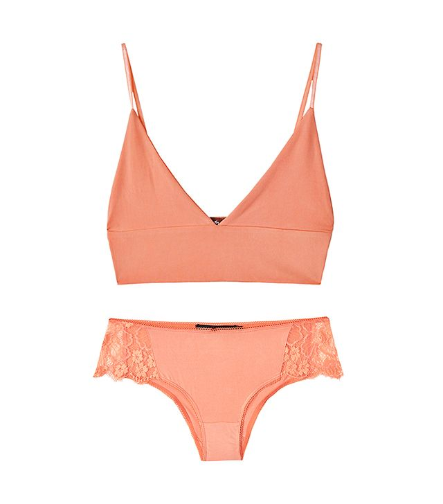 For Love & Lemons Sorbet Infamous Plunging Bra