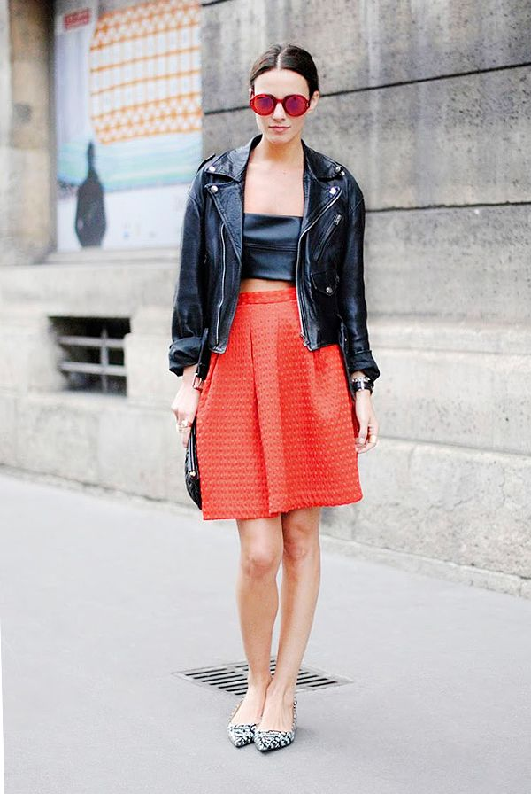 Crop Top + Full Skirt