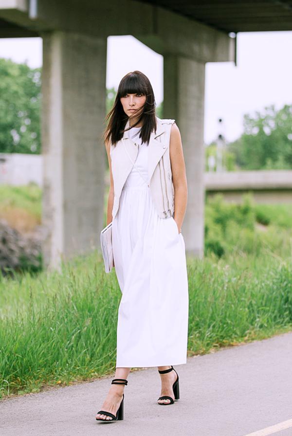 Moto Vest + Maxi Dress