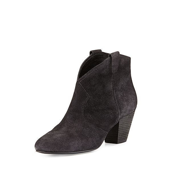 Ash Jalouse Suede Slip-On Western Ankle Booties