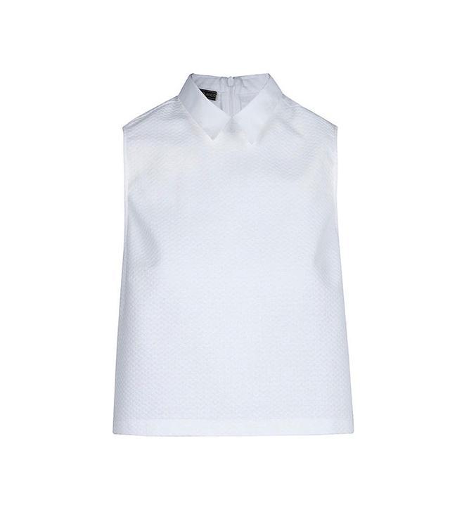 Blanco Corto Textura Top